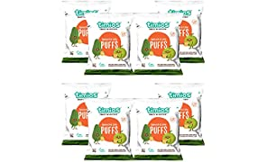 Timios Spinach And Lime Puffs | Healthy Snack for Kids | Natural Energy Food Product for Toddlers | Nutritious and Ready to Eat for Children 2+ Years Pack of 8