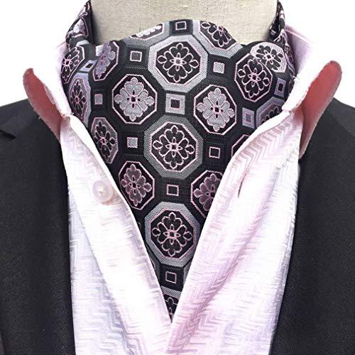 COMVIP Hombres Retro Paisley poliéster mal camisa de la corbata de la bufanda Ascot Estilo A