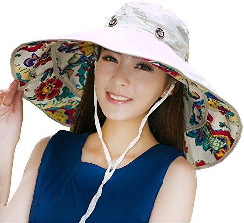 ihomey-modulable-pliable-extra-large-bord-chapeau-de-soleil-souple-reversible-upf-50-sun-plage-seau-