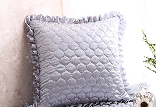 Preisvergleich Produktbild FR® Kissen Einfach modern Einfarbig Enthält PP-Baumwolle Ader Kissen Büro Sofa weich Gemütlich Kissen , gray zone , 55x55cm sets + core