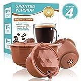 CAPMESSO Filtres à café réutilisables compatibles avec Les brasseurs Nescafe Dolce...
