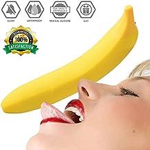 BaZhaHei Productos para adultos Juguete de Sexual Vibrador a Prueba de Agua Plátano Coqueteando Masaje Clítoris