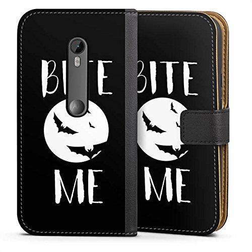 Motorola Moto G3 Tasche Hülle Flip Case Halloween Fledermaus Vampire (G3-fledermaus-tasche)