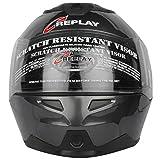 Replay Dream Plain Flip-up Helmet with Dual Clear Visor (Grey, M)