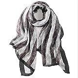 Ju-sheng Silk Long Scarf Women Silk Sonnencreme Strandtuch Klimaanlage Schal (Farbe : Grau)