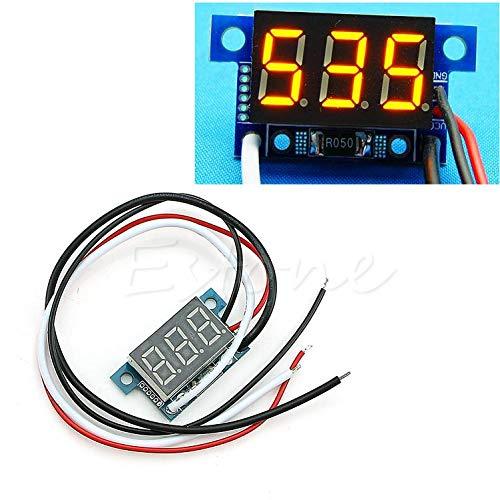 Mini-Amperemeter/Amperemeter, LED, 0-999 mA Gleichstrom, 4-30 V gelb - 3.42 Ein Auto