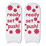 SIHIELOA 5 Paar 3D Gedruckt Labor Delivery Hospital Kurze Socken Lustige Worte Nette Söckchen für Frauen Dusche Geschenk 1