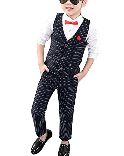 Junge Sommer Bekleidungsset Kinder Formeller Anzug Kleidung Set Weiß2/120