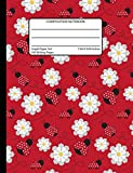 Composition Notebook Graph Paper 5x5 7.44 x 9.69 Inches / 200 Writing Pages: Ladybug Books for Girls Back To School Supplies Quad Ruled - Grid Paper