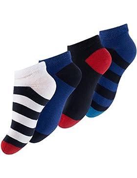 8 Pares Calcetines cortos para niño con rayas