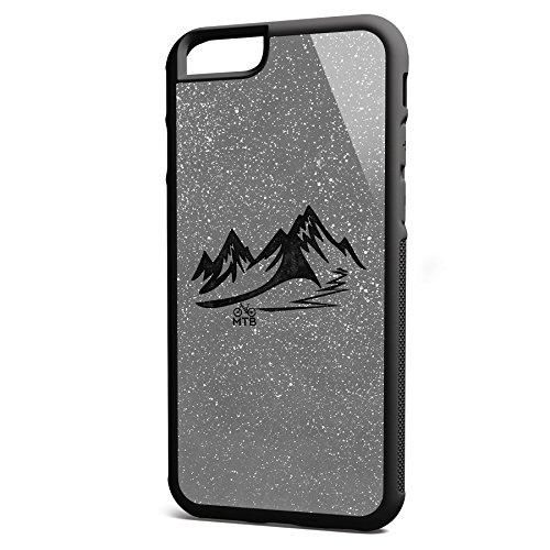 Smartcover Case MTB z.B. für Iphone 5 / 5S, Iphone 6 / 6S, Samsung S6 und S6 EDGE mit griffigem Gummirand und coolem Print, Smartphone Hülle:Samsung S6 EDGE weiss Iphone 6 / 6S schwarz