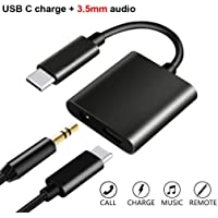 UrCart Type-C to 3.5 mm Aux Audio & USB Charging Splitter for Samsung Galaxy Note 10 Plus (Galaxy Note 10 Pro), Huawei P30 Pro, Samsung Galaxy S10 Plus, OnePlus 7T, OnePlus 7 Pro, Asus ROG Phone 2 3.5mm Audio Jack 2 in1 Adapter Music Headphone Splitter & Type C USB Charging Cable Converter Earphone Headphone Hands-Free Type-C to 3.5 mm Head Aux Audio USB Cable and Headphone Splitter - Multicolour