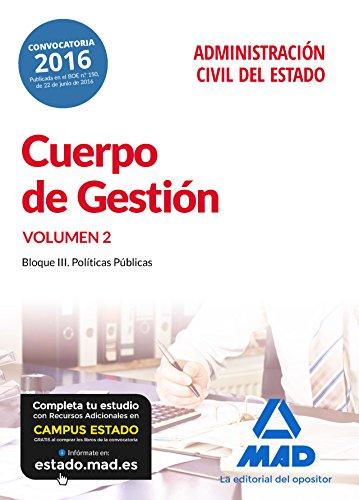 Cuerpo de Gestión de la Administración Civil del Estado. Temario volumen 2