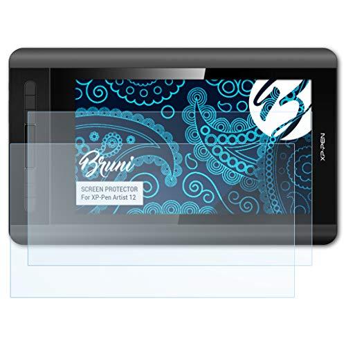 Bruni Schutzfolie für XP-Pen Artist 12 Folie, glasklare Displayschutzfolie (2X) -