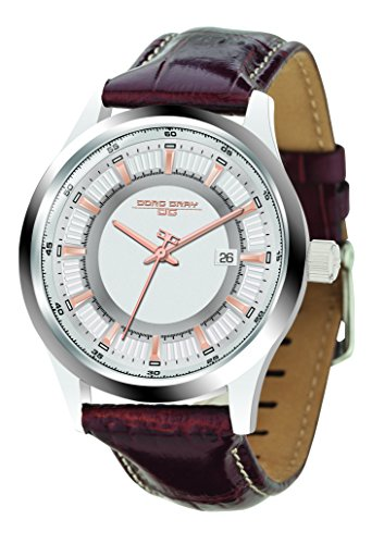 Jorg Gray Men's Quartz Watch with Silver Dial Analogue Display and Brown Leather Strap JG6800-12