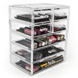 Sorbus Acrylic Cosmetics Makeup and Jewelry Storage Case Display- 3 Large and 4 Small Drawers Space- Saving, Stylish Acrylic Bathroom Case