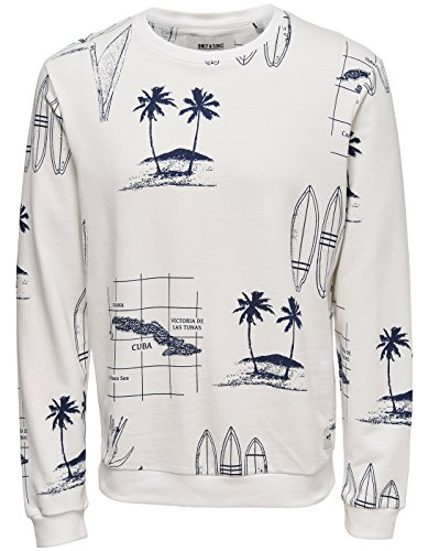 Sudadera surfera hombre onsLarry de Only and sons (L - Blanco)