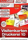 Visitenkarten-Druckerei 10 mit Papier