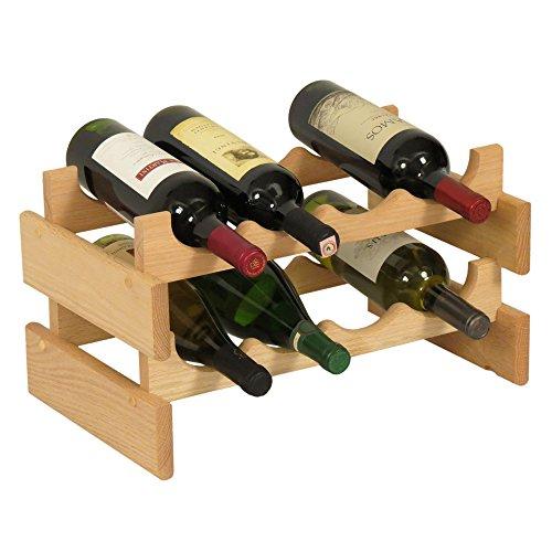 Wooden Mallet Holzhammer 4-bottle Dakota Weinregal 8 Flaschen Unfinished - Oak Finish Wall