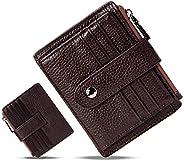 HUANLANG Small Leather Wallet for Women Men RFID Blocking Credit Card Holder Slim Bifold Front Pocket Wallet C
