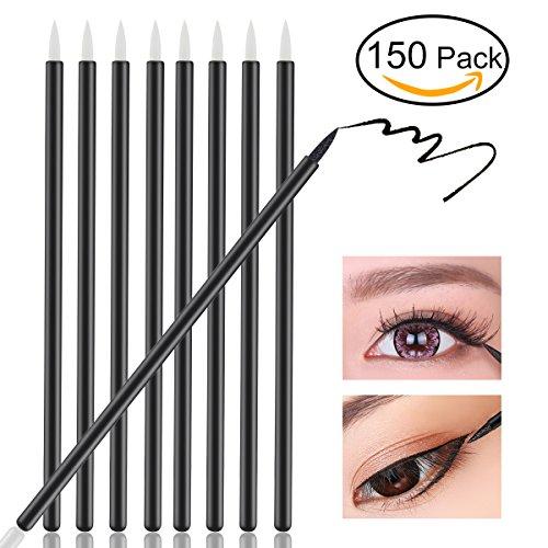 NUOLUX Brosses pour les yeux,jetables Eyeliner maquillage pinceau applicateur, 150pcs