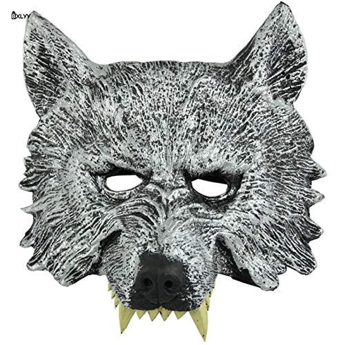 ZHANGDONGLAI Halloween Dekoration 1 stück Wolf Kopf Maske Ganze Person Requisiten Partei Liefert Maskerade Maske Partei Masken Weihnachten