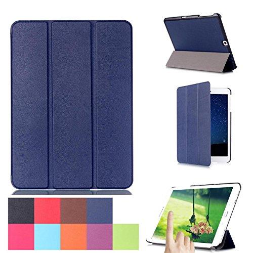 Preisvergleich Produktbild Galaxy Tab S2 9.7 Hülle, [Mehrfachwinkelstand] [Automatischer Aufwachen / Schlaf ] 3-Faltende Ultra-dünner PU-lederner und Stoßdämpfer Schützender Folio Fall Hülle für Samsung Galaxy Tab S2 9.7-Zoll / SM-T810 / SM-T815