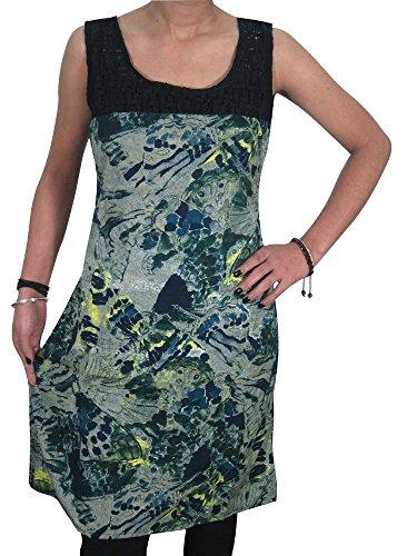 Mogul Interior Damen Kleid Mehrfarbig - Grey, Green
