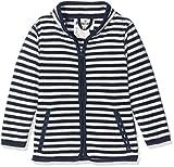 Playshoes Jungen Jacke Fleecejacke Maritim gestreift, Oeko-Tex Standard 100, Blau (Marine/weiß 171), 116