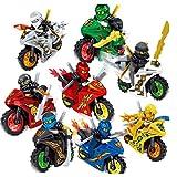 Ninjago Motorrad Ninga 8-teiliges Set kompatibel mit Lego Minifiguren
