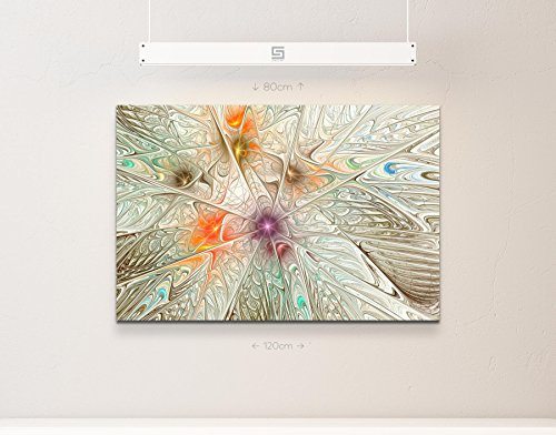Abstraktes Bild – Effekt – gefrorenes Glas, sepia + bunt