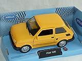 Welly Fiat 126 Orange Gelb 1972-2000 Polski Fiat 126p Ca 1/43 1/36-1/46 Modellauto Modell Auto