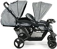 CHIC 4 BABY 273 34 Tvilling Barnvagn, Tandembarnvag, Blå Grå Jeans, Max 30kg