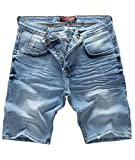 Rock Creek Herren Shorts Jeansshorts Denim Stretch Sommer Shorts Regular Slim [RC-2121 - Blue Vintage W31]