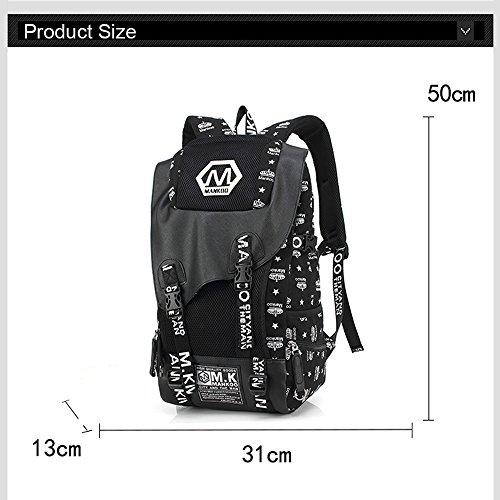 Borse da studio Yoome per ragazzi per ragazzi Casual School Bags For Boys High School Moda Canotta Zaino da 15 pollici Laptop Dayback Viaggi Escursioni Escursioni alpinismo Weekend Bag - Elephant Stelle