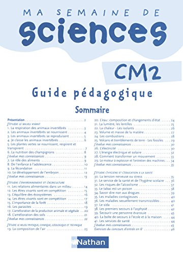 Ma semaine de sciences CM2 par Collectif
