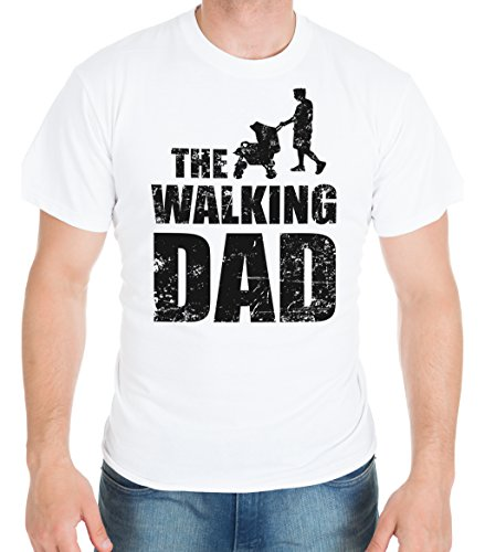 Shirtinator Lustiges T-Shirt für Herren Männer | Geschenk für (Werdende) Papas | Walking Dad | Original von White XL (White Bruder T-shirt)