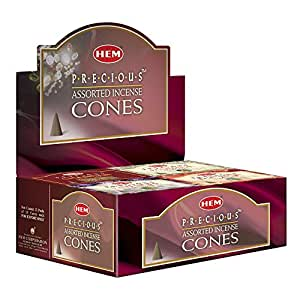 Hem Precious 6 Variant Assorted Incense Dhoop Cone Set (15.2 cm x 12.7 cm x 6.4 cm, Pack of 120)