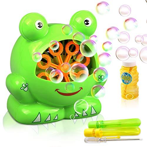 (Gifort Automatisch Seifenblasenmaschine für Kinder Weihnacht Kindergeburtstag Geschenk für Hochzeit/ Deko/ Party (AAA Batterie und Seifenblasenwasser nicht enthalten))