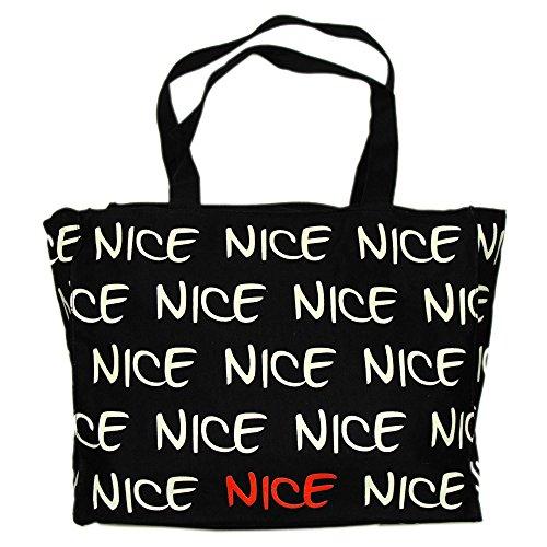 Robin Ruth - Sac Shopping Nice - Couleur : Noir, Blanc