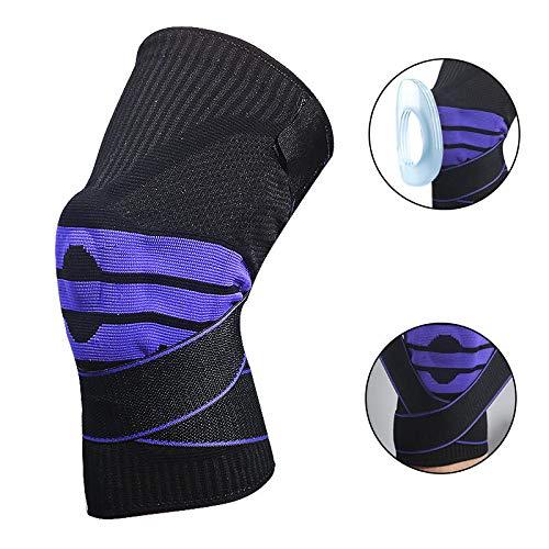 WXH Elastische Kompressionsmanschette für Kniebandagen, Beste Unterstützung für Kniebandagen, mit Seitenstabilisatoren und Patella-Gel-Pads, Arthritis, Schmerzlinderung für Gelenke -