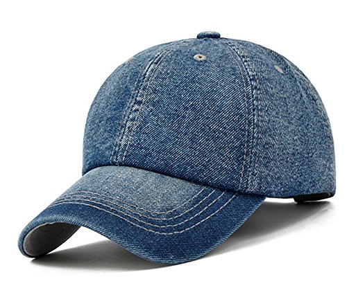 allmütze, Kappe, Basecap, leger, Snapback-Verschluss, verstellbar, für Herren/Damen, Sonnenschutz, Strand, Schirmmütze, Urlaub, Camping, Trucker-Hut, Deep Blue-Denim (Light Blue Bandana)