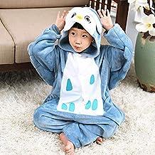 Hiswill Los niños Pijamas Invierno Pijamas de Franela Animal una Pieza Stitch Panda Pik