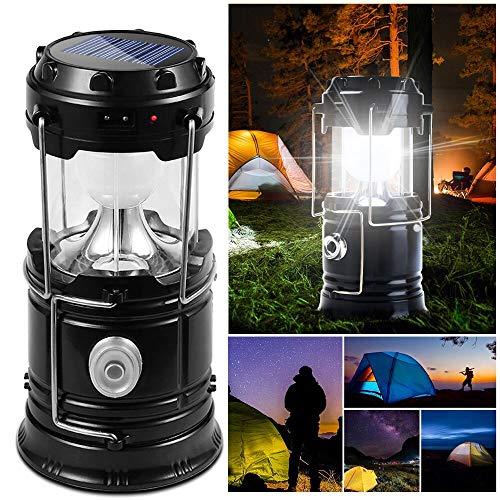 DAMIGRAM LED Lanterna da Campeggio Pieghevole, Esterno Lanterna Torcia a LED Power Bank Lampada Impermeabile Ultra Luminoso LED Lanterna per Emergenze Escursioni Campeggio Trekk
