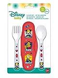 Mickey Mouse Estuche con 2 Cubiertos, (ST-44014)