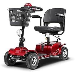 T-silla de ruedas Silla de ruedas plegable eléctrica, completamente automática, vespa mayor, discapacitados mayores, inteligente de cuatro ruedas