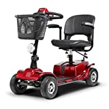 T-Rollstühle Elektrischer faltender Rollstuhl, vollautomatischer, älterer Roller, arbeitsunfähige ältere Personen, vierrädriges intelligentes