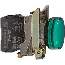 Schneider Electric XB4BVM3 Luz Piloto Redondo Diámetro 22, IP65, LED Integral, 240 V, Terminales, Verde