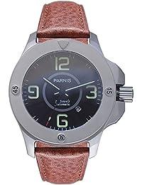 LIV MORRIS 0732066354277 - Reloj para hombres color marrón
