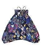 Lofbaz Kinder Patch Harem Pants - Blau - 10-11Y